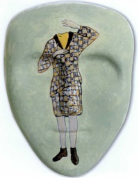 girl in chequered suit (mask) by vivienne shark lewitt
