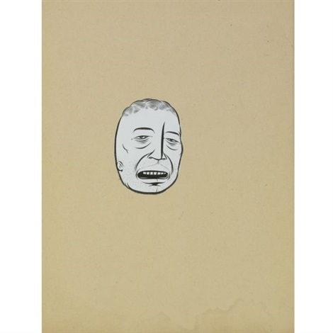 untitled white face by barry mcghee