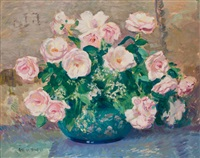 pink roses by gifford beal