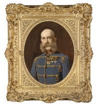 kaiser franz joseph i. von österreich, porträt des kaisers in ungarischer adjustierung mit ordensschmuck by heinrich von angeli