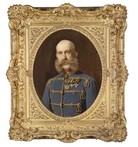 kaiser franz joseph i von österreich porträt des kaisers in ungarischer adjustierung mit ordensschmuck by heinrich von angeli