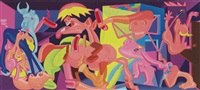 picasso's guernica (study) by peter saul