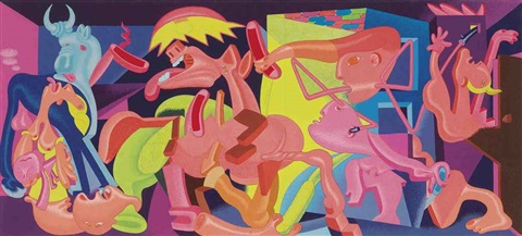 picassos guernica study by peter saul
