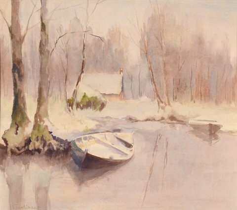 winter landscape by john henry twachtman