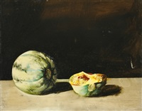 still life with melons by tibor csernus