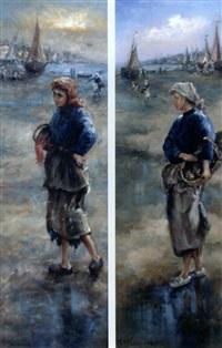 pêcheurs à pieds (set of 2) by jean-baptiste fournier