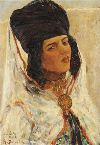 femme ouled nails by alphonse léon germain thill