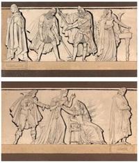 pierre-laurent buirette dit dormont de belloy suivi d'eustache de saint-pierre, d'aurèle et d'aliénor, issu du siège de calais et alain-rené lesage suivi de la bar (2 works) by pierre jean david d' angers