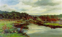 the mill-lade, glen farg near abernethy by hugh allan