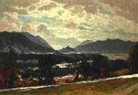 blick in das loisachtal by adolf hasenkamp