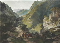 travellers in the mountains by carlo ademollo