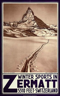 winter sports in zermatt by jean gaberell