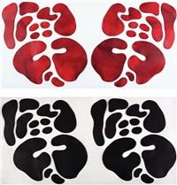 soyut kompozisyon (2 works) by mithat sen