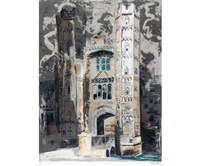 oxburgh hall, 1977 by john piper