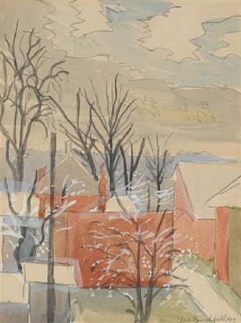 snow flurries in november by charles ephraim burchfield