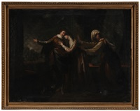 romeo and juliet, representing act iii, scene 5 of shakespeare's play by benjamin west