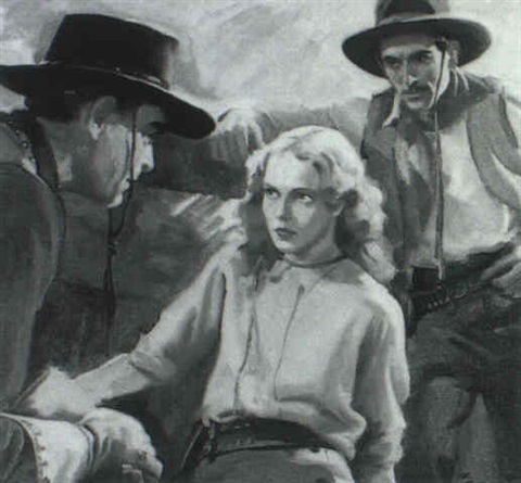 woman surrounded by cowboys by walter g ratterman