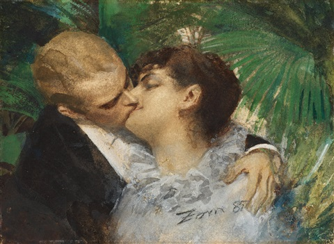 the embrace by anders zorn