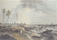 south east view of fort st. george, madras by robert (col.) smith