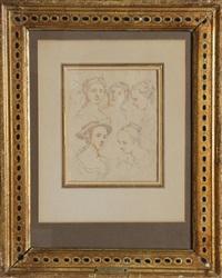 study of women's heads by peter jan van (de engelschman) reysschoot