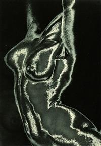 schwebender torso (solarisation) by franz fiedler