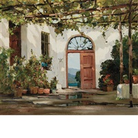 spanish patio by anthony thieme