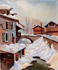 torrent des cordes, megève by albert e. smith
