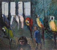 parrots at the zoo by edward douglas eade