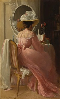 a lady in pink by patrick william adam