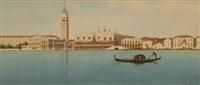 gondolier on the grand canal, venice by eugenio benvenuti
