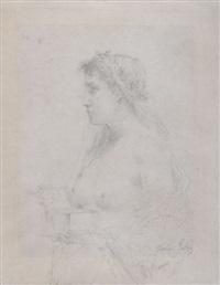 buste de femme nue au coffret by françois lafon