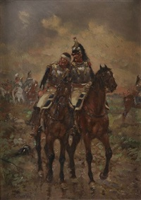 cuirassier blessé (+ 2 others; 3 works) by emile chepfer