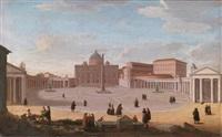 piazza san pietro a roma by giacomo van (monsù studio) lint
