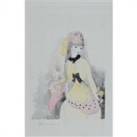 la dame jaune. (la vie de château, pl. 4) by marie laurencin