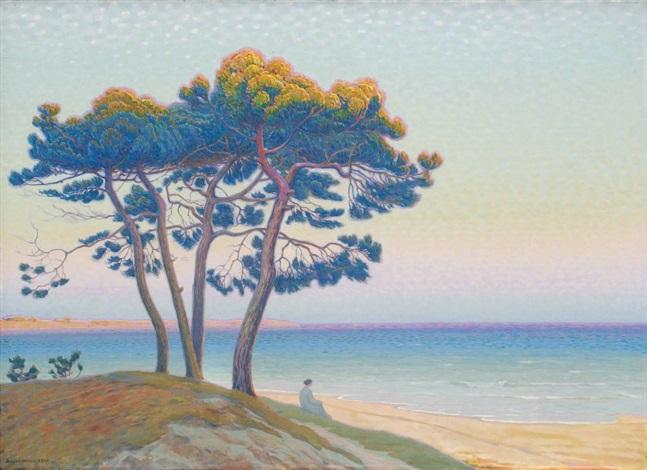 méditation pin en bord de mer by andré morisset