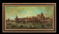 the grand canal with santa maria della salute by canaletto