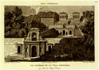 choix des plus célèbres maisons de plaisance de rome et de ses environs (set of 77; collab. with pierre-françois-léonard fontaine) by charles percier