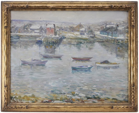 rockport in winter by charles salis kaelin