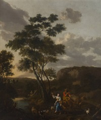 bergère en joyeuse compagnie by jacob van der does the elder