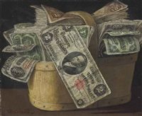 basket of money by victor dubreuil