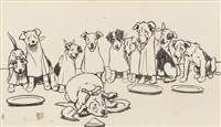 ten little puppy dogs going out to dine by cecil charles windsor aldin