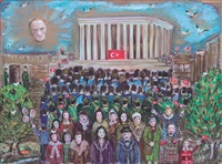 ataturk and children by hatice kumbaraci gürsöz