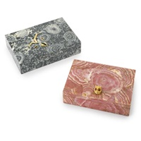 cigarette boxes (various sizes; set of 2) by chaumet and boucheron
