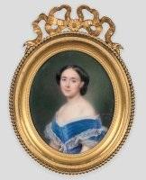 portrait d'une jeune femme en buste de trois-quart by francois meuret
