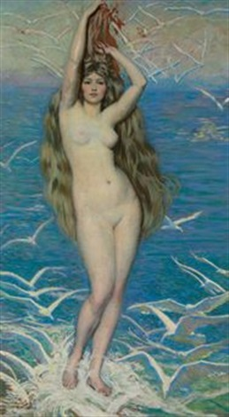 girl with gulls by philip leslie hale