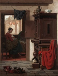 mother and baby in an interior by charles joseph grips