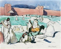 sur le marché à fez (maroc) by jean bouchaud