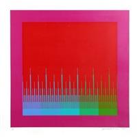 soft satellite red by richard anuszkiewicz
