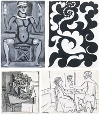 plaques relating to georges rouault, pablo picasso and cubism (set of 26) by american school (20)