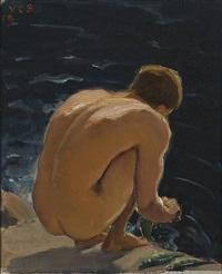 boy on a shore by venny soldan-brofeldt